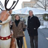 The Westchester Donates Holiday Decorations To White Plains For WinterFest