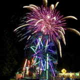Fireworks Display Lights Up Night Sky In Ridgefield