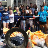 Yonkers Businesses, Volunteers Join Forces To Clean Saw Mill River