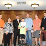 Hasbrouck Heights Council Honors Sixth Grade Athlete Making Local History