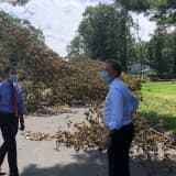 'I'm Going To Hold Eversource's Feet To The Fire,' Says Lamont Who Tours Danbury, Westport