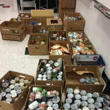 Alzheimer's Association Collects Donations To Food Bank For Westchester