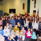 Confirmation Students Stuff Bears For Sick Children For Community Service