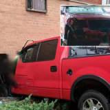 Pickup Truck Smashes Through Hackensack Basement Apartment Window