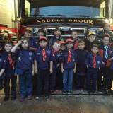 PHOTOS: Saddle Brook Boy Scouts Visit Fire Department