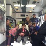 Brownie Troop Visits Oradell Fire Department