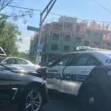 BMW T-Bones Paramus Police Car