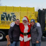 RWS Fills Its Bins With Toys For Tots Donations At Trumbull's Town Hall