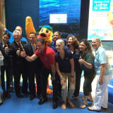 Stewie The Duck Brings Swimming Safety Message To Maritime Aquarium