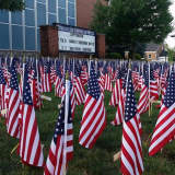 PHOTOS: Lyndhurst Students Turn HS Lawn Into 9/11 Memorial Tribute