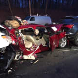 Photos: Details Emerge After Five-Vehicle, Chain-Reaction Crash Causes Merritt Parkway Closure
