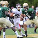 St. Joseph Football Team Supports Senior Student With Cancer In Montvale
