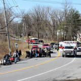 Motorcyclist Rushed To Hospital After Crash Near Market In Mahopac