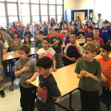 Mount Pleasant Elementary Students Record Pledge Of Allegiance