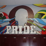 New 30-Foot 'Pride' Mural Greets Returning Ossining High School Students