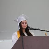 Pelham High Senior Reads Speech At Graduation