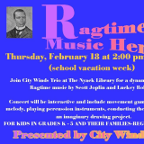 Nyack Library Features Ragtime Music Heroes For Black History Month