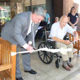Senior Care Center Opens Therapeutic Patio For Recovering Patients