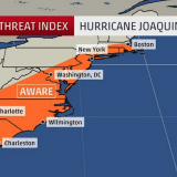 Hurricane Joaquin Strengthens As It Treks Toward Northeast