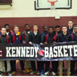 Kennedy Catholic HS In Somers Celebrates Undefeated Basketball Season