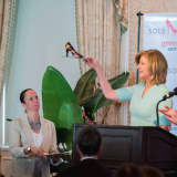 Author Arianna Huffington Speaks At 'Sole Sisters' Greenwich Charity Lunch