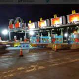 Demolition Under Way On Tappan Zee Bridge Toll Plaza