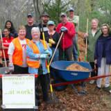 Norwalk Land Trust Volunteers Clean Up Farm Creek Preserve