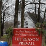 Reward Offered After Vandals Slash Winter Solstice Banner In Shelton