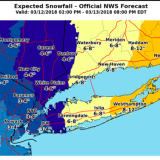 Latest Snowfall Projections Show Higher Amounts For Parts Of Area