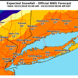Projected Snowfall Totals Increase As Fourth Nor'easter Nears