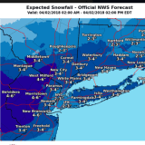 Projected Snowfall Totals Increase For Storm That Will Sweep Through Area