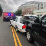 Car Crashes Into Police Cruiser In Norwalk
