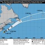 Chris Gains Strength As It Treks Toward Northeast, Nears Hurricane Status