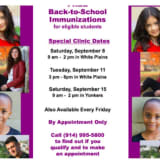 Free Back-To-School Clinics Offered By Westchester Health Department