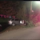 Car Crashes Off Road In Northern Westchester