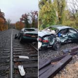 Man Injured After Train Hits Car In West Nyack