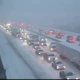 Numerous Crashes Reported As Snow, Sleet Overspread Area