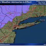 Freezing Rain On Way, National Weather Service Warns, With Advisories Issued For Much Of Area