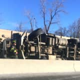 Overturned Dump Truck, Vehicle Fire Cause Parsippany Delays