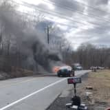 Car Fire, Downed Trees Cause Road Closures In Rockland