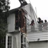 45 Firefighters Battle Blaze At House In Westchester