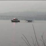 Small Plane Makes Emergency Landing In Hudson River Near Piermont