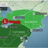 New Round Of Showers, Storms With Gusty Winds Will Sweep Through Area