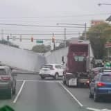 Collapsed Tractor Trailer Shuts Route 1&9 In Linden