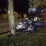 Woman Airlifted After Car Crashes Into Utility Pole On Route 45