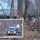 Firefighters Battle Hampton Township House Fire