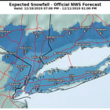 Projected Snowfall Totals Released For Storm From Overnight Tuesday Through Wednesday Morning