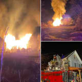 Firefighters Battle Sussex County Barn Blaze For Hours