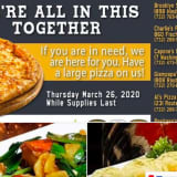 Pizza For COVID-19 Shut-Ins, Thanks To Toms River Police