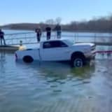VIDEO: Pickup Plunges Into Monmouth Reservoir